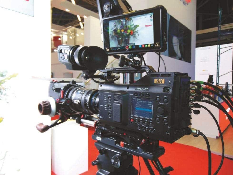 8K-Videokamera mit 60 Hz und 33 Megapixel Auflösung von Sharp