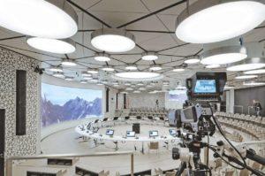 Unterirdisches Konferenzzentrum der Allianz AG in München