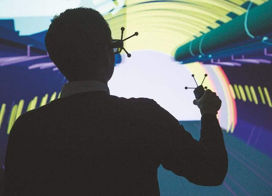 3D-Powerwall im ZAL Hamburg, VR-Labor