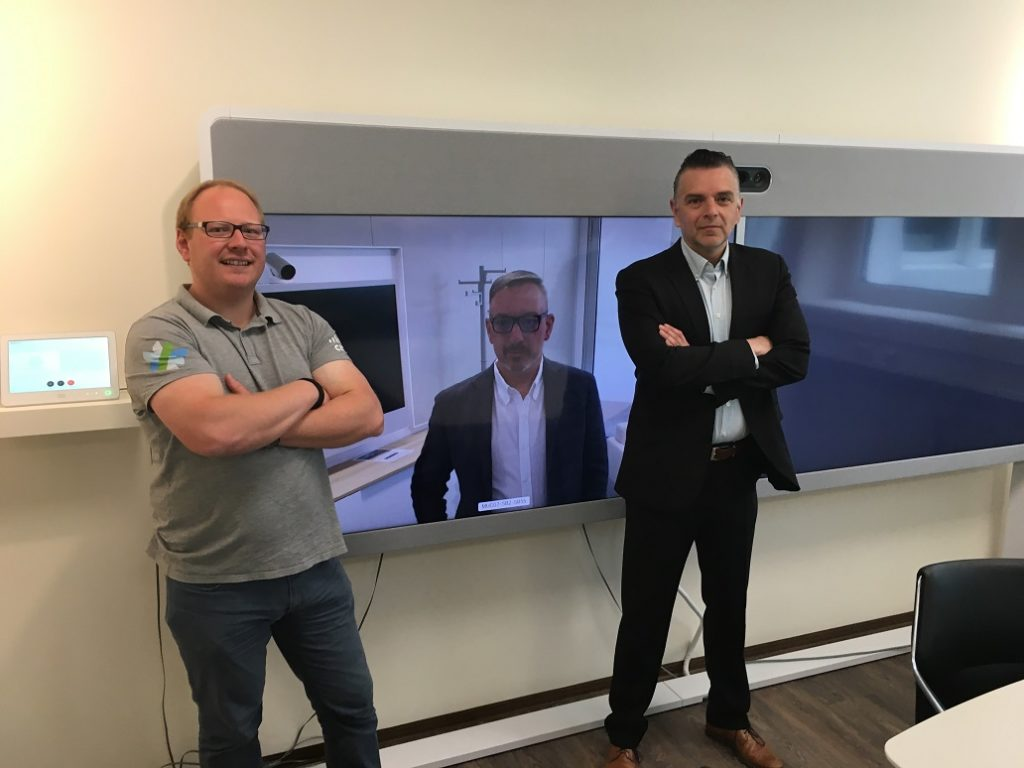 Vernetzt im neuen Cisco Customer Briefing Center: Marcel Tresp, Consultant Cisco Sales von Ingram Micro, Anton Michael Döschl, Architecture Lead Collaboration von Cisco Deutschland und Gerhard Artjelan, Senior Manager Networking Advanced Solutions von Ingram Micro