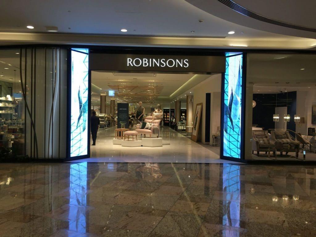Digital Signage Einkaufszentrum von Dubai