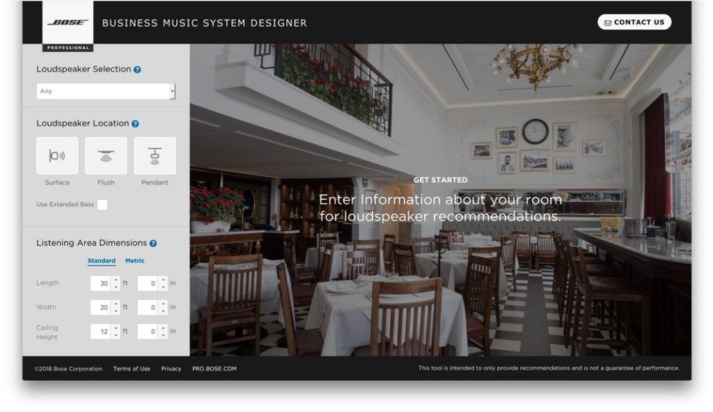 Der Bose Business Music System Designer