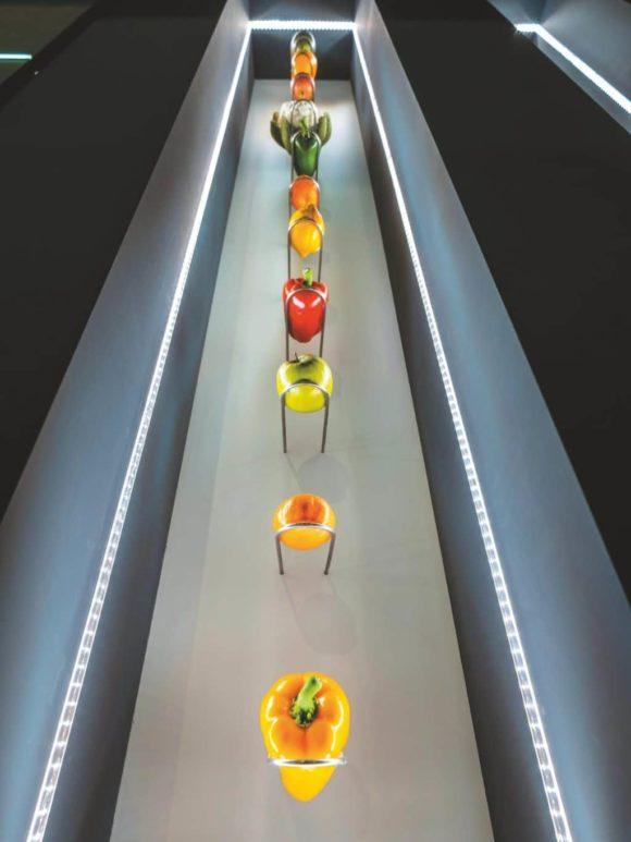 Moderne Warenpräsentation Obst und Gemüse