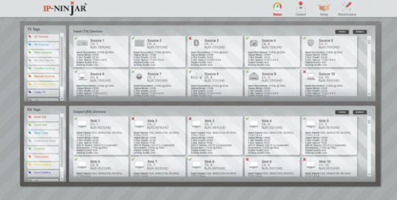 GUI der Control-Software