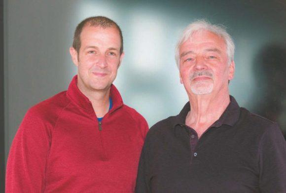 Firmengründer Detlef Lang (rechts) und Tobias Lang, Vorstandsvorsitzender der Lang AG
