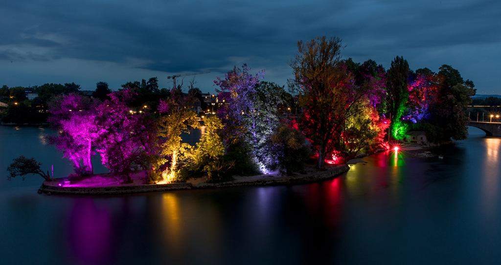 illuminierte Insel