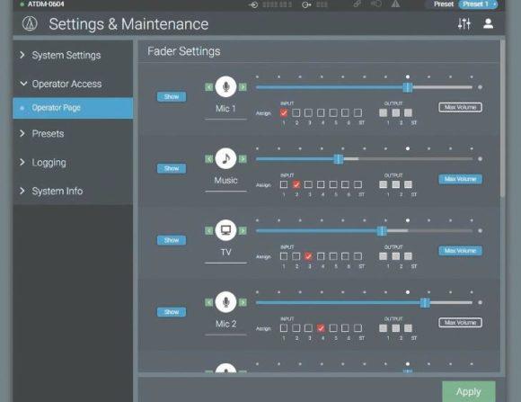 Audio-Technica Automatik-Mixer ATDM-0604