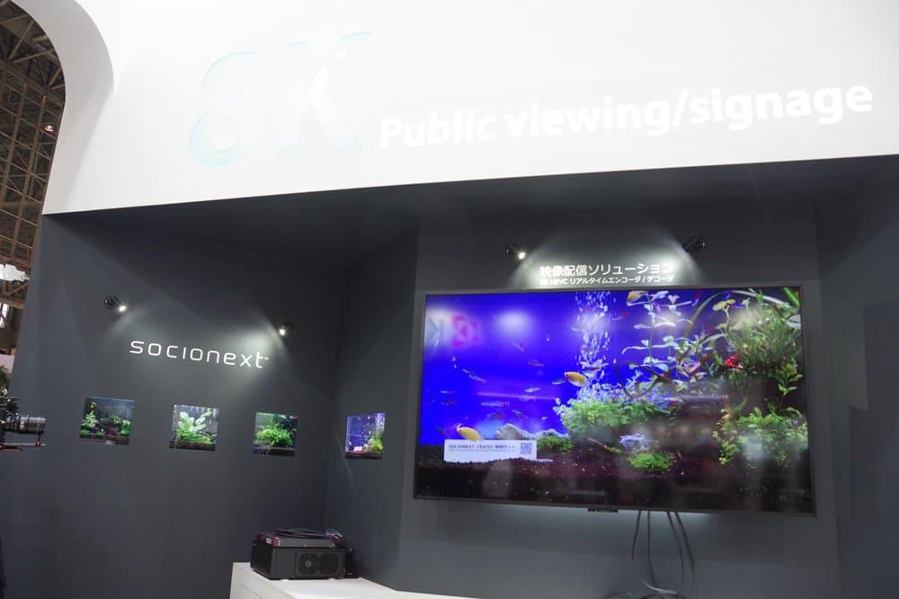 Eine Live-Demonstration zeigte auch den Einsatz für 8K-Displaywerbung mit den HV5-Chipsätzen (Bildquelle: cool3c.com)