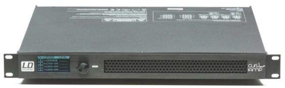 Für den Betrieb des Curv 500 Systems in Festinstallationen bietet sich der vier - kanalige IAMP Verstärker mit DSP-System an.