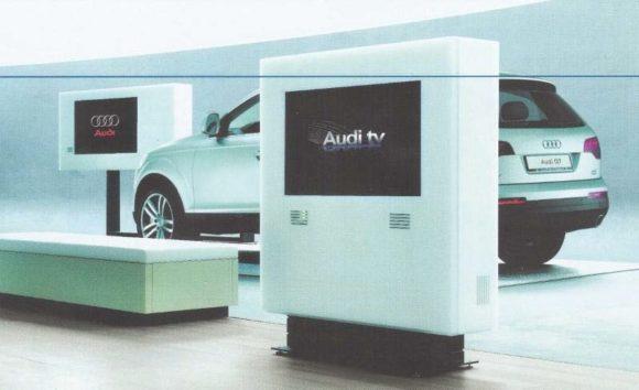 Ein Element des Projekts Audi Digitaler Schauraum – Entwicklung ab 2004