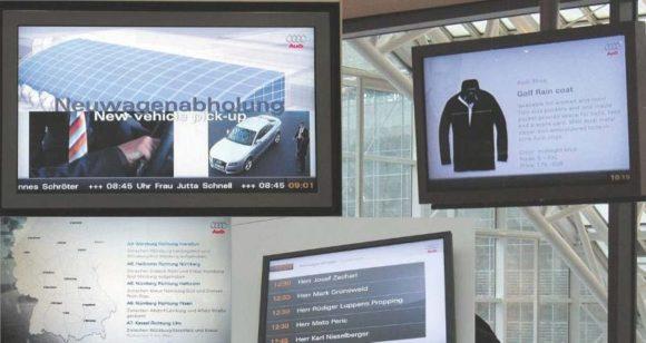Bilder von der Installation des Audi Infotainment im Audi Forum Ingolstadt (2008)