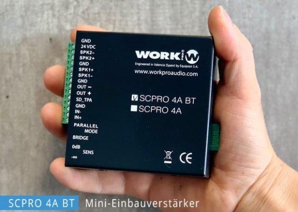 Miniverstärker mit Bluetooth Anbindung - WORK PRO SCPRO 4A BT
