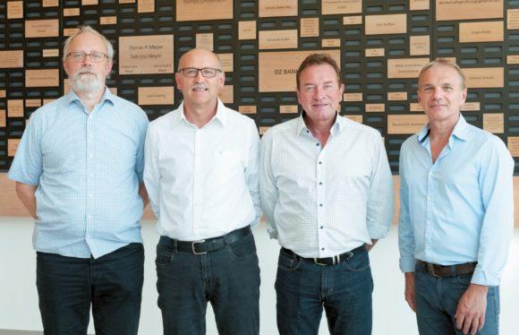 Frank Sokat (IFBcon), Dieter Wagner (Frankfurt School), Michael Krämer (BFE) und Jörg Alberti (BFE)