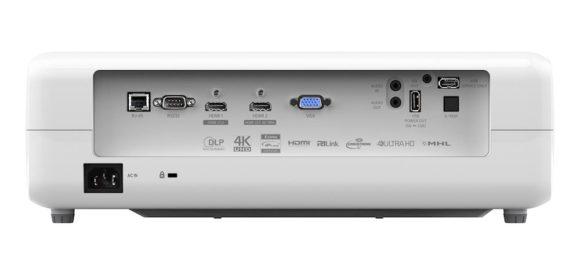 Rückansicht der neue Optoma 4K Ultra HD Projektoren – 4K550 und 4K550ST mit hoher Helligkeit
