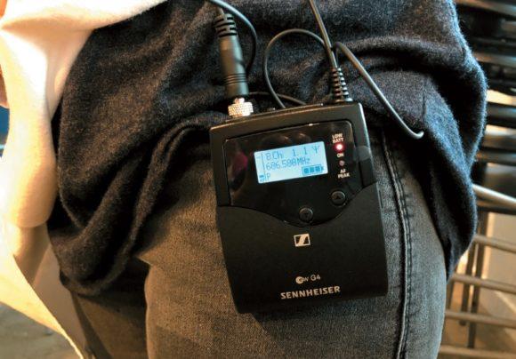 Der Taschensender SK 500 G4 im Einsatz
