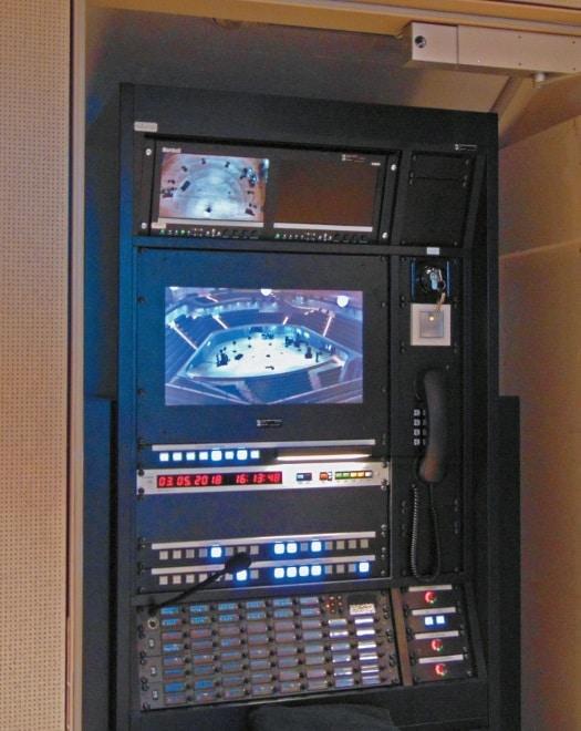 Inspizientensystem mit Live-Kamerabild