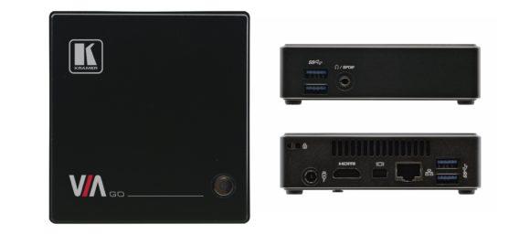 Kramer VIA GO - Kleinste VIA-Lösung für den Einstieg bietet HDMI- und DisplayPort-Output sowie Ethernet- und USB 3.0 -Schnittstellen