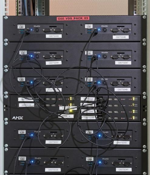 """SVSI Encoder-Karten des Typs NMX-ENC-N1133A-C in einem 19""""-Frame"""