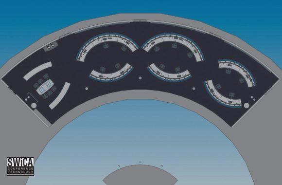 Grundriss des GEO Mission Control Centre