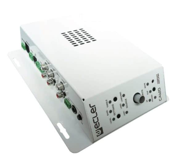 Kleiner Stereo-Installationsverstärker mit 3 Line Eingängen