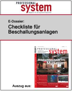 Produkt: Checkliste für Beschallungsanlagen