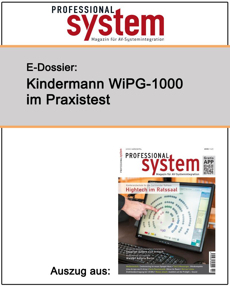 Produkt: Kindermann WiPG-1000