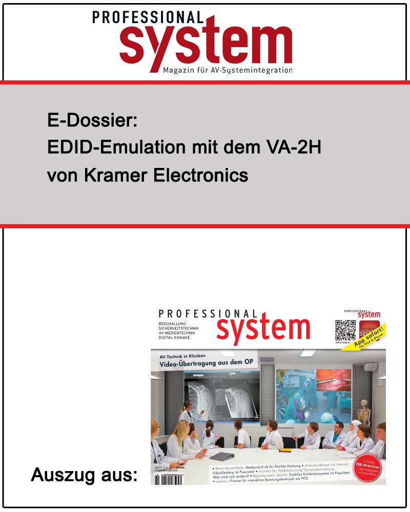 Produkt: EDID-Emulation mit dem VA-2H von Kramer Electronics