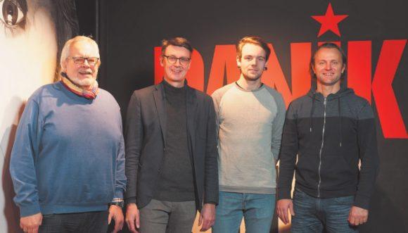 Ottmar Bröckel, Damian Rodgett, Malte Mühlbrandt und Gérald Engler, Digital Reality in der PANIK CITY