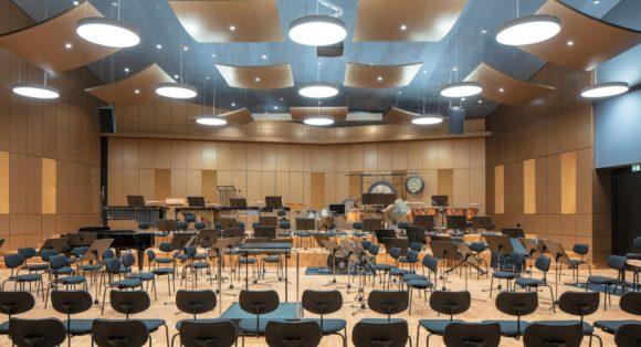 Großer Probesaal im Musik-Campus der Bundeswehr