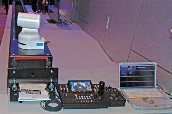 ecnopoint-Tuning-System mit der PTZ Kamera UE150 und dem Bedienpult RP150