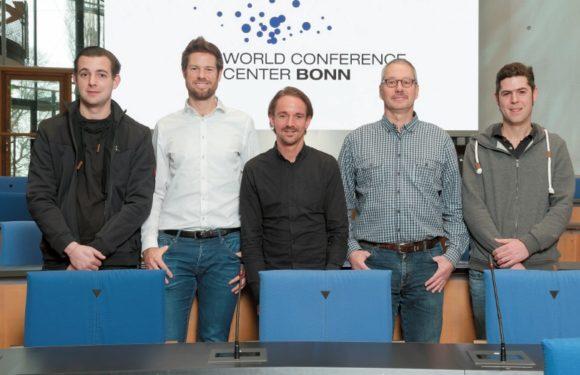 von links: Phillipp Bauch, Dominik Schenke, Manuel Marx, Roland Cremer und Simon Meidl