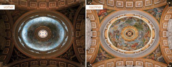 Beleuchtung der Kuppel des Petersdoms