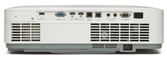 Laserprojektor von NEC Rückansicht