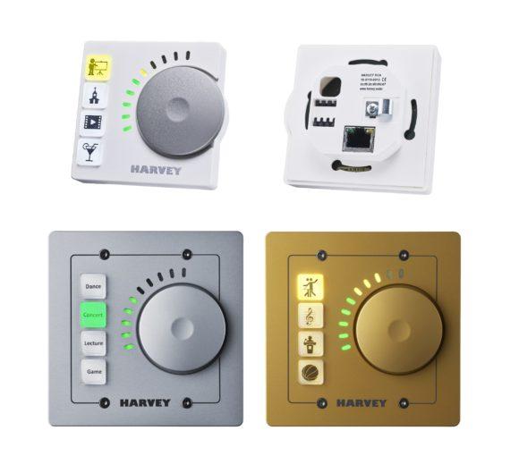 Die Remote RC4 wird über Netzwerk betrieben, ist für Wandeinbau konzipiert und frei programmierbar. Es sind verschiedene Gehäusevarianten erhältlich. Die Buttons lassen sich beliebig beschriften.