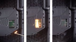 Media FireProtect-System im Löschtest