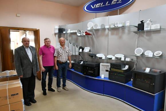 Chefentwickler Yuriy Zachepoly mit Firmengründer und Inhaber Leonid Lohvynenko und Vladimir Savchenko