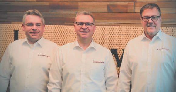 Prokurist Matthias Wolff, Inhaber und CEO Gergely Vida, Prokurist Achim Jos