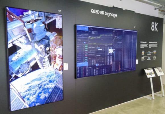 8K-Auflösung ist das Thema bei den neu vorgestellten QLED Displays für Digital Signage
