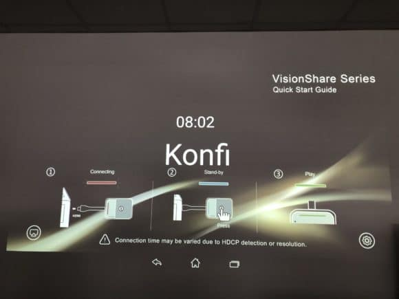 Willkommensbildschirm NorthVision VisionShare A40