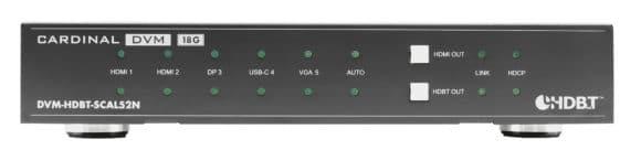 Der Scaler DVM-HDBT-SCAL52N von Sommer Cable verfügt über einen USB-C-Eingang für Videosignale.