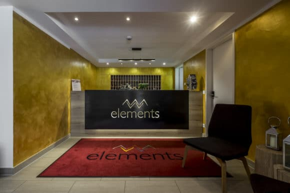 Wellness-Hotel Empfang