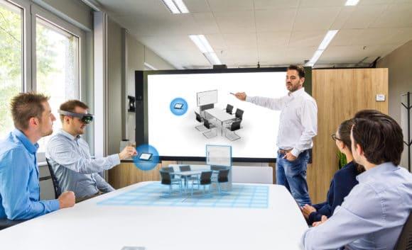Collaboration-Anwendung mit Digital Reality im Macom-LAB