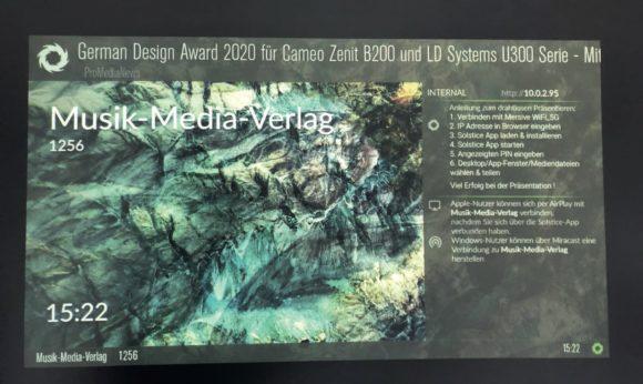 Welcome Screen des Mersive Solstice Gen3 Pods