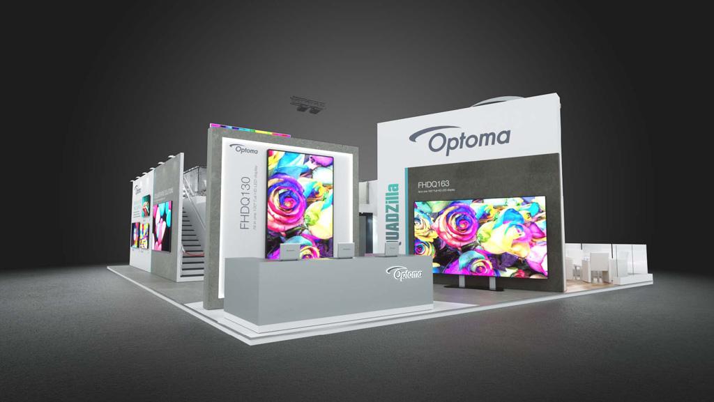 Optoma Stand auf der ISE 2020