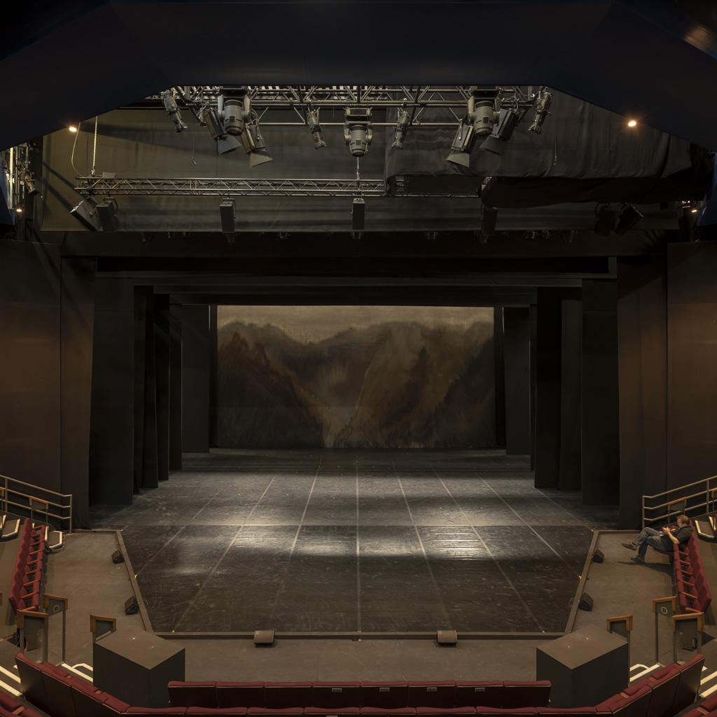Blick auf den Bühnenraum des Leeds Playhouse