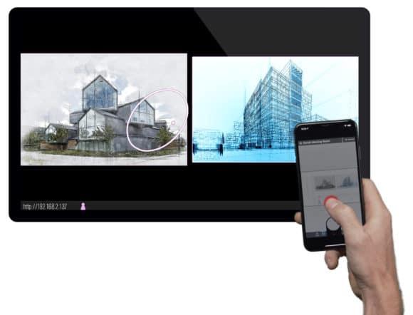 Solstice Ink Smartphone als virtueller Laserpointer