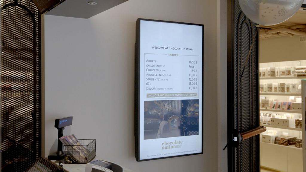 Panasonic Screen in Chocolate Nation