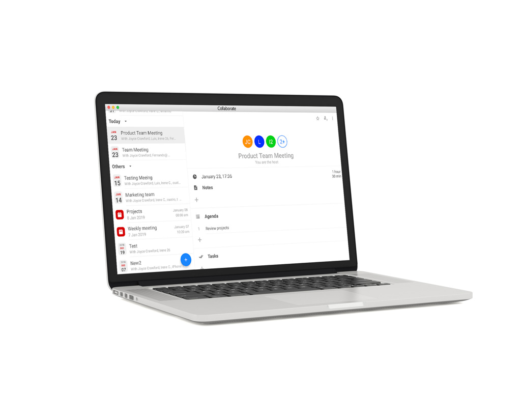 Web-Anwendung auf einem Laptop