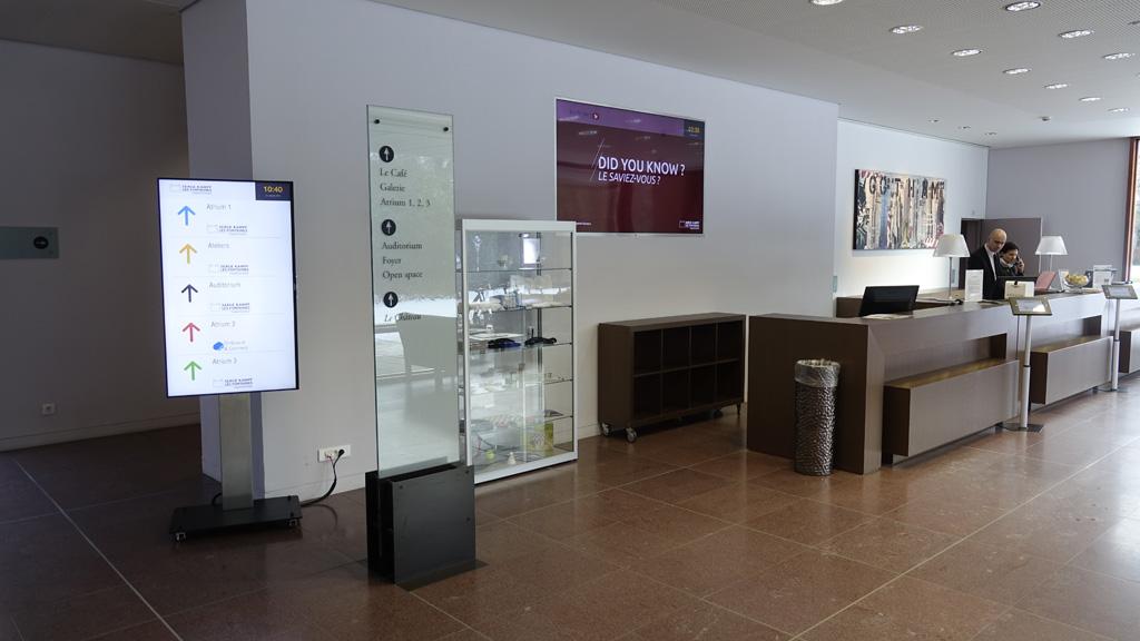 Digital Signage im Eingangsbereich