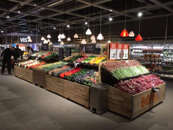 Beleuchtung vom Obst- und Gemüsesortiment